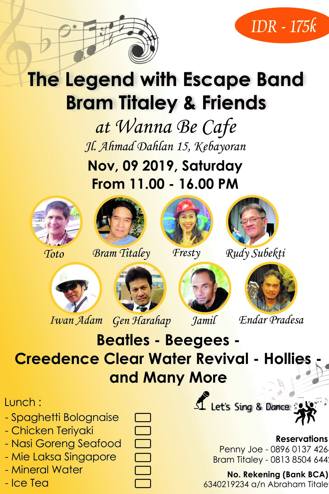 The Legend With Escape Band (Bram Titaley & Friends )