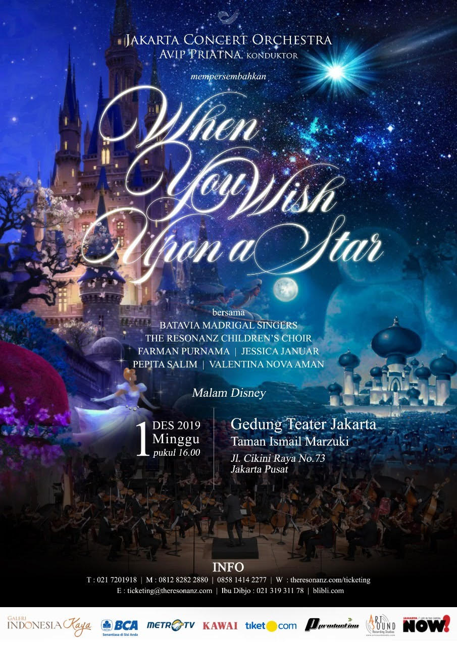 "Konser "" WHEN YOU WISH UPON A STAR "" - Malam Disney"