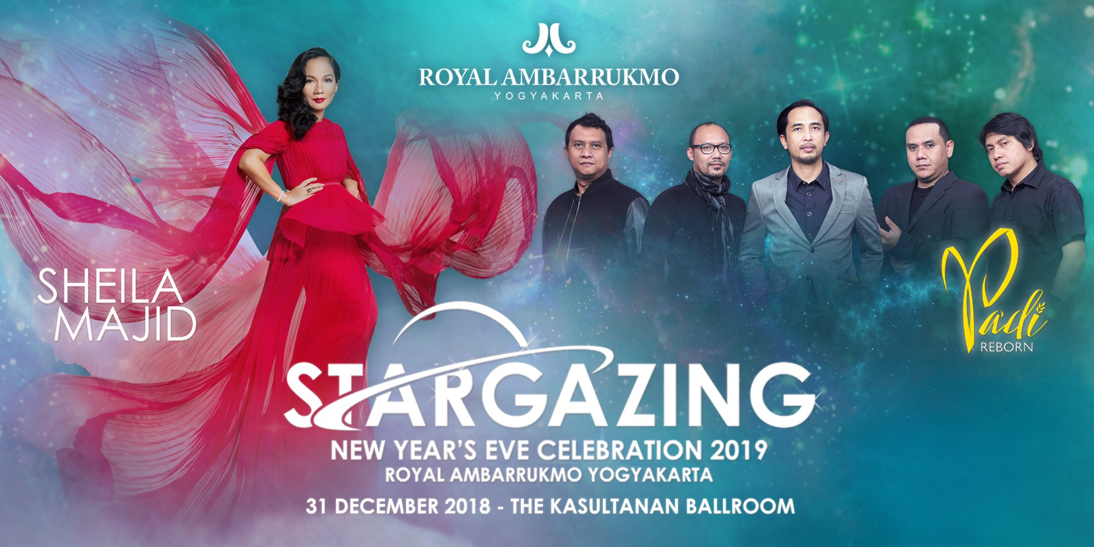 Stargazing New Year's Eve Celebration 2019 Royal Ambarrukmo